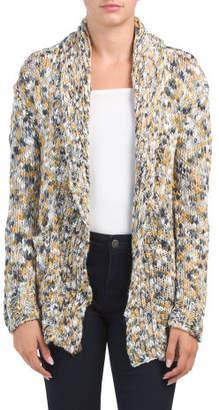 Shawl Collar Textured Sweater Cardigan