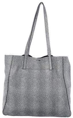 Milly Embossed Suede Tote