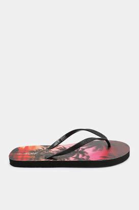 3a3af4182 Ardene Glittery Palm Tree Foam Flip-Flops