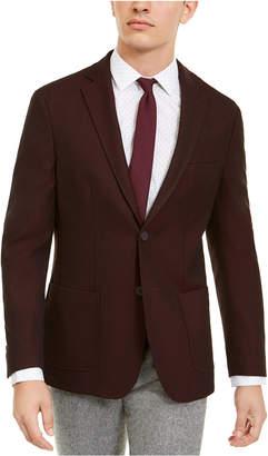 Bar III Men Slim-Fit Burgundy Knit Sport Coat