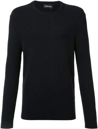 Exemplaire English ribbed crew neck jumper