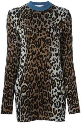 Stella McCartney cheetah crew neck jumper