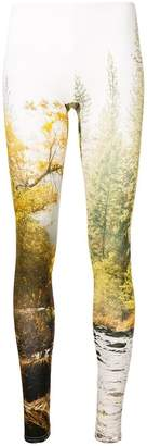 R 13 woodland print leggings