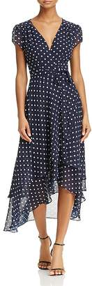 Betsey Johnson Polka Dot Wrap Dress $128 thestylecure.com