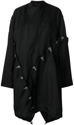 Yohji Yamamoto oversized asymmetric button coat