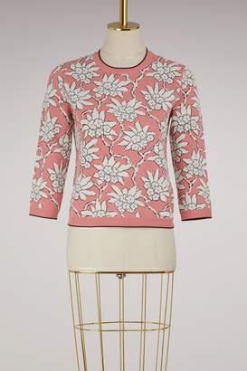 Valentino Flower jacquard pullover