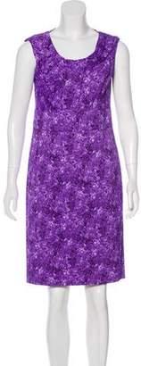 Michael Kors Sleeveless Floral Print Dress