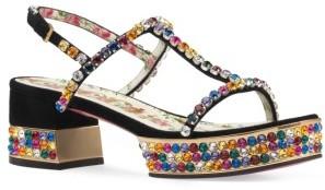 Women's Gucci Mira Crystal Embellished Platform Sandal $1,790 thestylecure.com