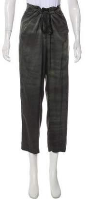 Raquel Allegra Silk High-Rise Cropped Pants w/ Tags