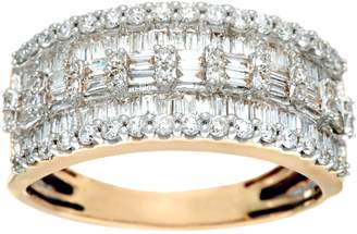 Affinity Diamond Jewelry Baguette & Round Diamond Band Ring, 14K, 1.00 cttw, by Affinity