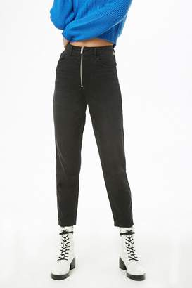 Forever 21 Zippered High-Rise Jeans