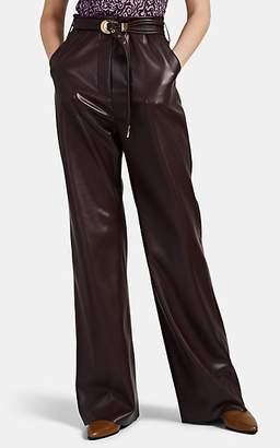 Nanushka Women's Kisa Vegan-Leather Pants - Dk. Purple