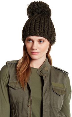 Collection XIIX Oversized Thick Knit Pompom Hat $28 thestylecure.com