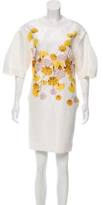 Giambattista Valli Floral Silk Shift Dress