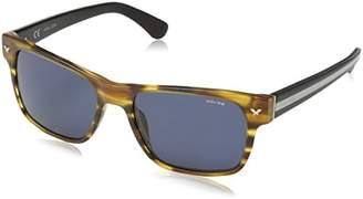 Police Sunglasses Men's SPL165 Stripe 2 Wayfarer Sunglasses