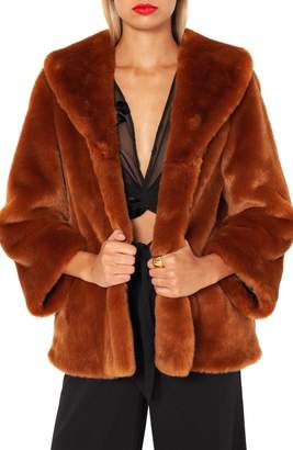 Amuse Society Furever Mine Faux Fur Jacket