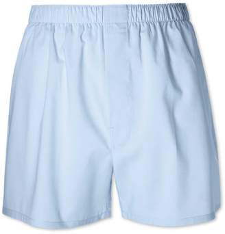 Charles Tyrwhitt Plain Sky Blue Woven Boxers Size Large