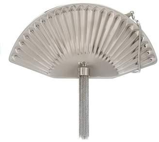 Isla tassel detailing fan clutch bag