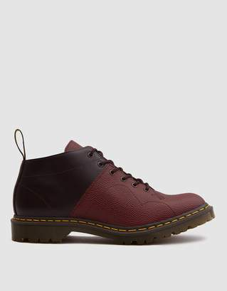 Dr. Martens EG Church Monkey Boot in Oxblood Pebble Leather