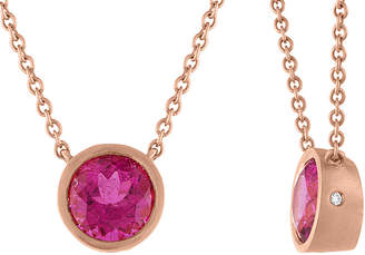 Tate 18K Rose Gold 1.80 Ct. Tw. Diamond & Rubellite Necklace