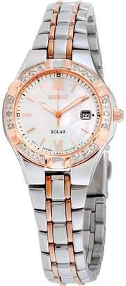 Seiko Diamond Women's Quartz Solar Watch SUT146