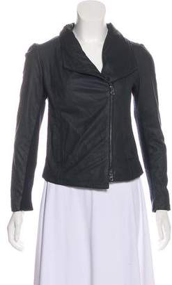 Vince Leather Wool-Lined Jacket