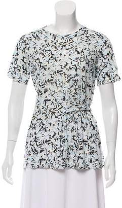 Proenza Schouler Printed Short Sleeve Top w/ Tags
