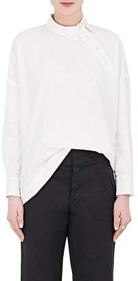 Yohji Yamamoto Regulation Women's Cotton Oxford Asymmetric Shirt
