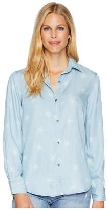 Chaps Star-Print Chambray Shirt Women's Clothing