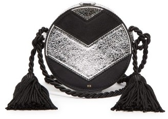 Hillier Bartley - Chevron Collar Box Cross Body Bag - Womens - Black Silver
