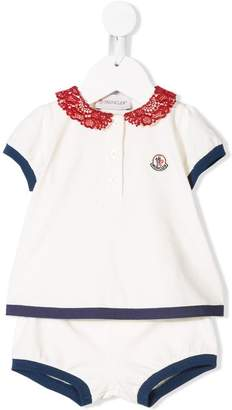 Moncler shorts and polo top set