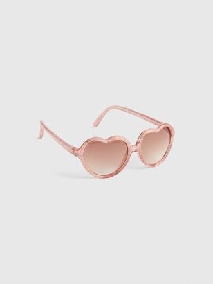 d4c1c8a79891 Gap Toddler Glitter Heart Sunglasses