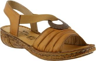 Spring Step Leather Wedge Sandals - Karmel