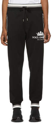 Dolce & Gabbana Black Crown Lounge Pants