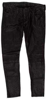 AllSaints Cropped Leather Pants
