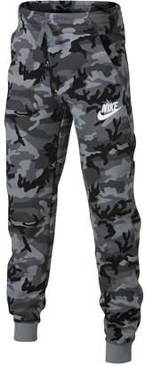 Nike Big Boys Camo-Print Fleece Joggers