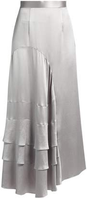 Roksanda Vostell tiered-ruffle silk-satin skirt