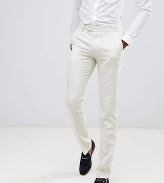 Farah Smart Tall skinny wedding suit pants in linen