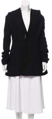 Rick Owens Wool Hooded Coat