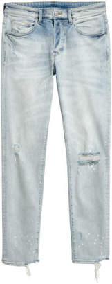 H&M Skinny Trashed Jeans - Blue