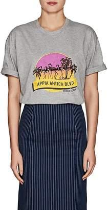 "Fendi Women's ""Appia Antica BLVD"" Cotton Jersey T-shirt"