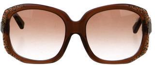 Swarovski Carma Embellished Sunglasses $145 thestylecure.com