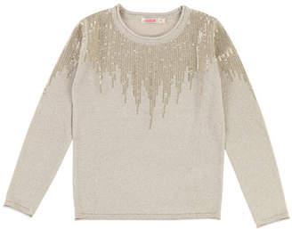 Billieblush Long-Sleeve Lurex Knit Sequin Top 080a57f8e