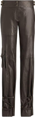 Ralph Lauren Kaiya Straight Leg Leather Pant