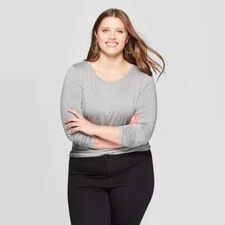 Ava & Viv Women's Plus Size Long Sleeve Crewneck T-Shirt - Ava & VivTM