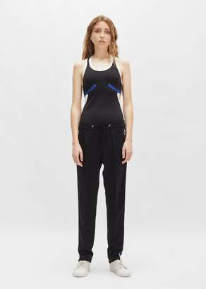 Tim Coppens Side Stripe Lounge Pant Black w/Blue Stripe