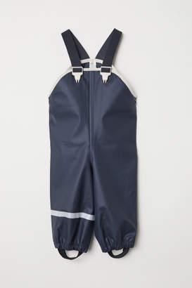 H&M Rain Pants with Suspenders - Gray