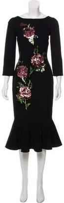 Dolce & Gabbana 2017 Embellished Wool Dress w/ Tags