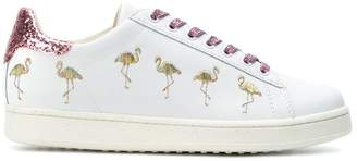 Moa Master Of Arts Flamingo glitter sneakers