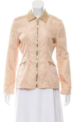 Prada Leather-Paneled Lightweight Jacket